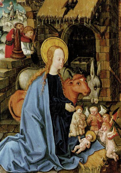 Postkarte: Marienaltar - Geburt Christi
